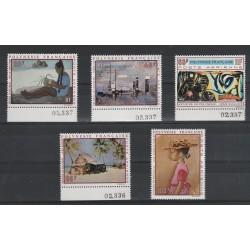 1970  POLINESIA FRANCESE QUADRI DI ARTISTI POLINESIANI   1  VAL.  MNH MF56667
