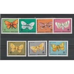 1977 MONGOLIA  FAUNA  FARFALLE  7  VAL MNH  MF56718