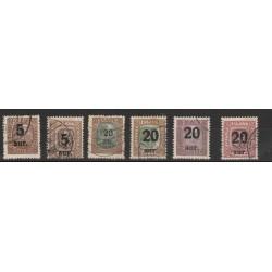 1921/22 ISLANDA ICELAND SOPRASTAMPA 6 VALORI  USATI  MF56681