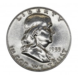 1953 USA UNITED STATES - FRANKLIN HALF DOLLAR - D - SILVER COIN MF41720
