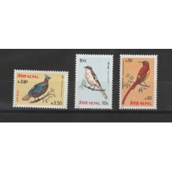NEPAL 1979  FAUNA UCCELLI  3  VAL MLH MF56775