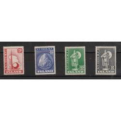 1939 ISLANDA ICELAND  EXPO NEW YORK  4 VAL MLH MF50867
