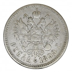 1899 RUSSIA IMPERO ZAR NICOLA II 1 RUBLO ** ARGENTO SILVER COIN MF29020