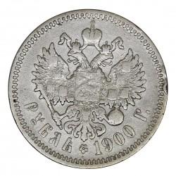 1900 RUSSIA IMPERO ZAR NICOLA II 1 RUBLO ФЗ ARGENTO SILVER COIN MF29021