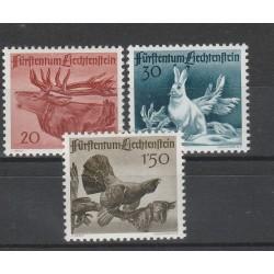 1946 LIECHTENSTEIN  FAUNA 3 VAL MNH  MF56737
