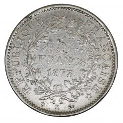 1873 FRANCIA 5 FRANCS - K - ARGENTO SILVER - MF29023