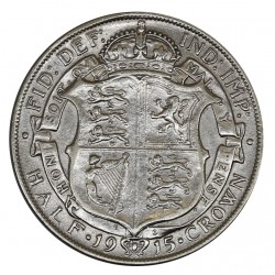 1915 GRAN BRETAGNA UK - GEORGE V - HALF CROWN - ARGENTO SILVER - MF29024