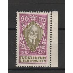 1928 LIECHTENSTEIN 70 PRINCIPE GIOVANNI II UNIF N 85 UN VAL MNH  MF56833