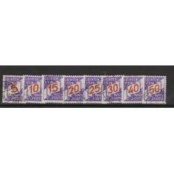 1928 LIECHTENSTEIN  SEGNATASSE CIFRA   8  VAL USATI  MF56817