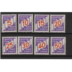 1928 LIECHTENSTEIN  SEGNATASSE CIFRA   8  VAL NUOVI MNH  MF56814