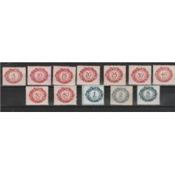 1920 LIECHTENSTEIN TASSE VALORE IN OVALE  12 VAL NUOVI  MF 56804