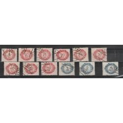 1920 LIECHTENSTEIN TASSE VALORE IN OVALE  12 VAL USATI  MF 56798