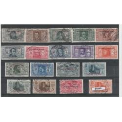 1932 EGEO SERIE DANTE ALIGHIERI 18 VALORI  USATI  MF56856