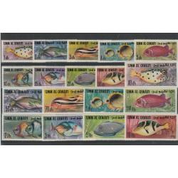 1969 UMM AL QIWAIN ASTRONAUTI  APOLLO 11 ORO 2 VAL + BF MNH MF55693