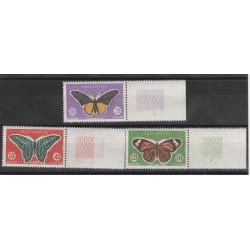 1969 CAMBOGIA FAUNA  FARFALLE YVERT 225/27 - 3 VAL MNH MF56864