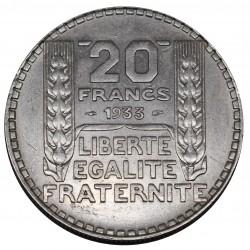 1933 FRANCIA 20 FRANCS - TURIN - ARGENTO SILVER - MF29081
