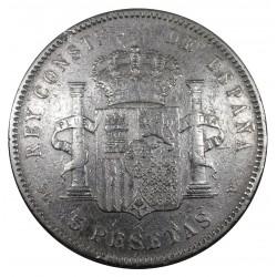 1897 SPAGNA 5 PESETAS ALFONSO XIII MONETA ARGENTO SILVER MF29084