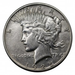 1925 STATI UNITI PEACE DOLLAR ARGENTO - SILVER ORIGINALE MF29150