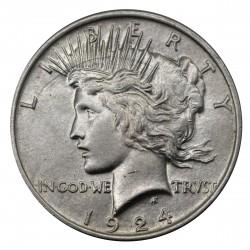 1924 STATI UNITI PEACE DOLLAR ARGENTO - SILVER ORIGINALE MF29148