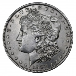 1883 STATI UNITI ONE DOLLAR MORGAN - O - ARGENTO - SILVER ORIGINALE MF29158