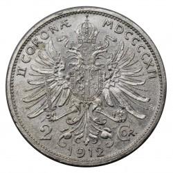 1912 AUSTRIA FRANZ JOSEF I -  2 CORONE - ARGENTO - SILVER MF29153