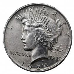 1924 STATI UNITI PEACE DOLLAR ARGENTO - SILVER ORIGINALE MF29187