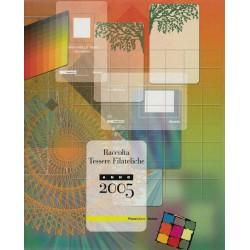 2005  TESSERE FILATELICHE REPUBBLICA ANNATA COMPLETE 63 TESSERE - MF57030