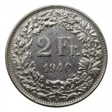 1940 SVIZZERA 2 FRANCHI - B...