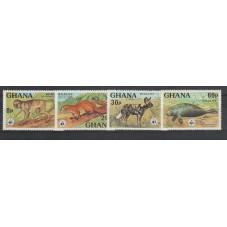 GHANA 1977 WWF PROTEZIONE...