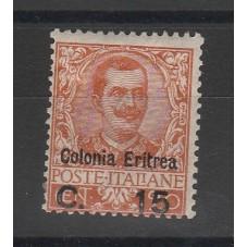 1905 ERITREA  FLOREALE 15c...