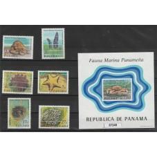 1976 PANAMA FAUNA MARINA  6...