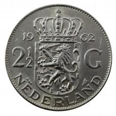 1962 OLANDA - 2,5 GULDEN -...