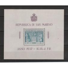 1937 SAN MARINO FOGLIETTO...