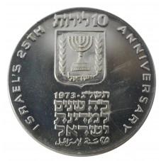 1973 ISRAELE 10 LIROT 25...