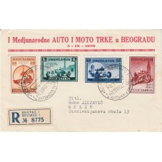 1939 JUGOSLAVIA  CORSE AUTO...