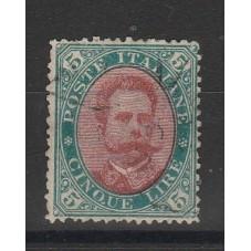 1889 REGNO UMBERTO LIRE 5...