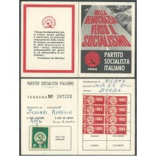 TESSERA PSI / ANNO 1965/...