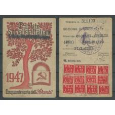 TESSERA PSI ANNO 1947 /...