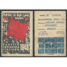 TESSERA PSI ANNO 1948 /...