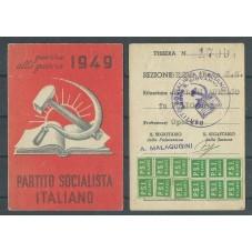 TESSERA PSI ANNO 1949 /...