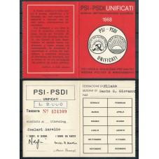 TESSERA PSI / ANNO 1968 /...