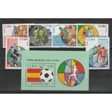 1981 CUBA SERIE CALCIO 6...