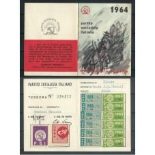 TESSERA PSI / ANNO 1964 /...