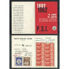 TESSERA PSI / ANNO 1962/...