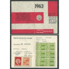 TESSERA PSI / ANNO 1963 /...
