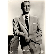 CARTOLINA D'EPOCA ALAN LADD...
