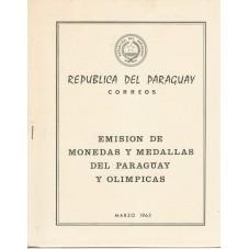 PARAGUAY 1965  OLIMPIADI...