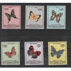 HAITI 1969  FAUNA  FARFALLE...