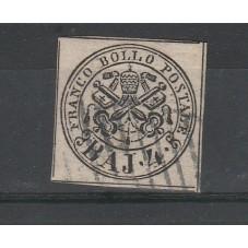 1852 STATO PONTIFICIO 4 BAJ...