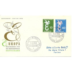 1958 GERMANIA GERMANY FDC...